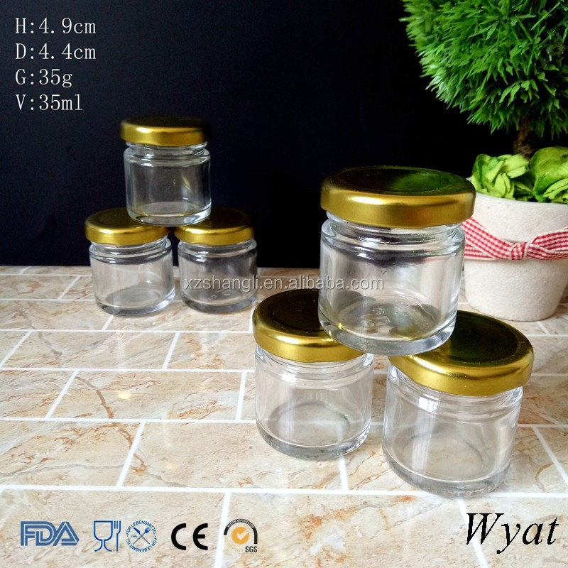 Wholesale Cylinder 25g 1oz Small Glass Jars for Food Storage