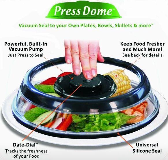 instant vacuum food storage excellent houseware food cover press dome plastic lid