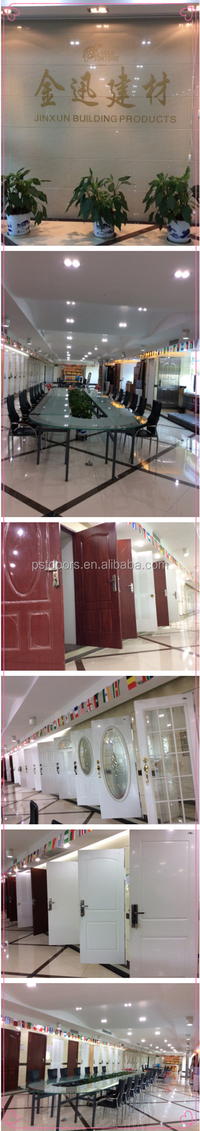 hot sale used interior steel doors wooden edge knock down frame for sale in guangzhou