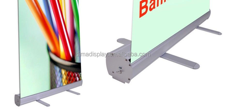 Exhibition Stand Roll Up : Aluminium silver roll up systems display stand roll up banner