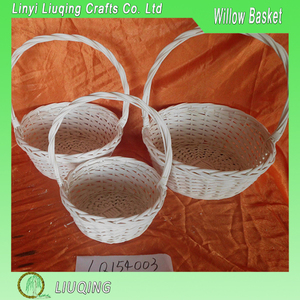wholesale 3 pcs wooden basket with handle