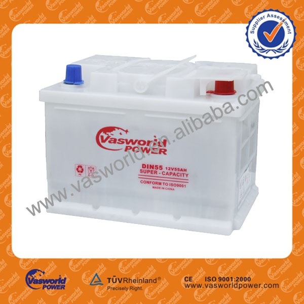 New product for 2014 DIN 55055 12V50AH car battery display
