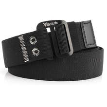 New Style No Hole, Fashion Men And Women Elastic Adjustable Belt With Metal Quick Release Hook Style buckle