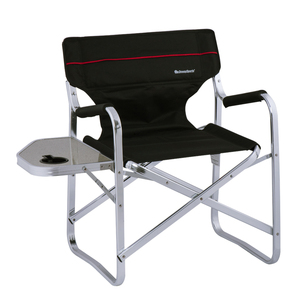Aluminum Portable Director Folding Chair With Side Tray