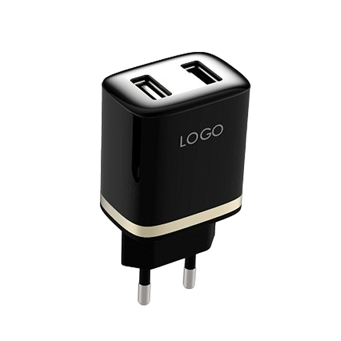 Stylish, durable, innovative design Intelligent IC chip dual port wall charger