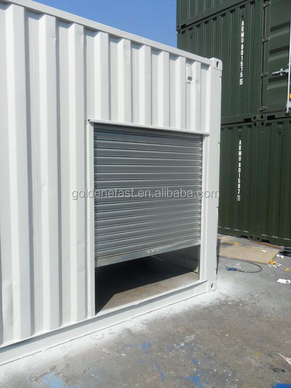 20ft shipping container garage with roller shutter door. Black Bedroom Furniture Sets. Home Design Ideas