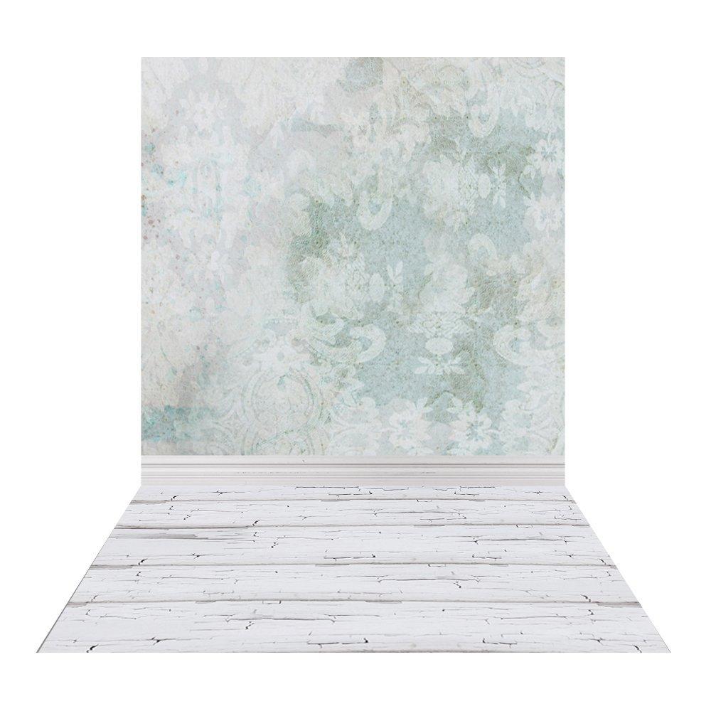 Get Quotations Muzi 5x8ft Old Brocade Photography Backdrop White Wood Floor Newborn Vinyl