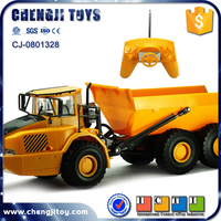 1:28 6 Channel Remote Control Construction Car Toys RC Truck Toys Car