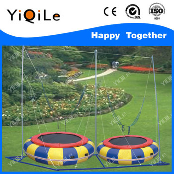 DOUBLE ENTERTAINMENT BUNGEE JUMPING TRAMPOLINE FOR SALE