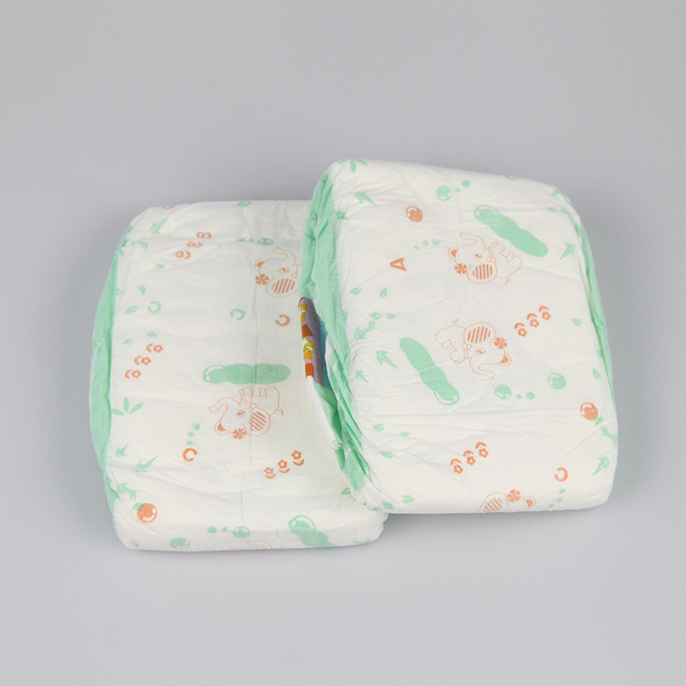 2018 New design soft care fluff pulp non woven printed disposable baby diapers
