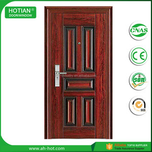 Alibaba china market main single steel door cheap steel safety door metal door inserts