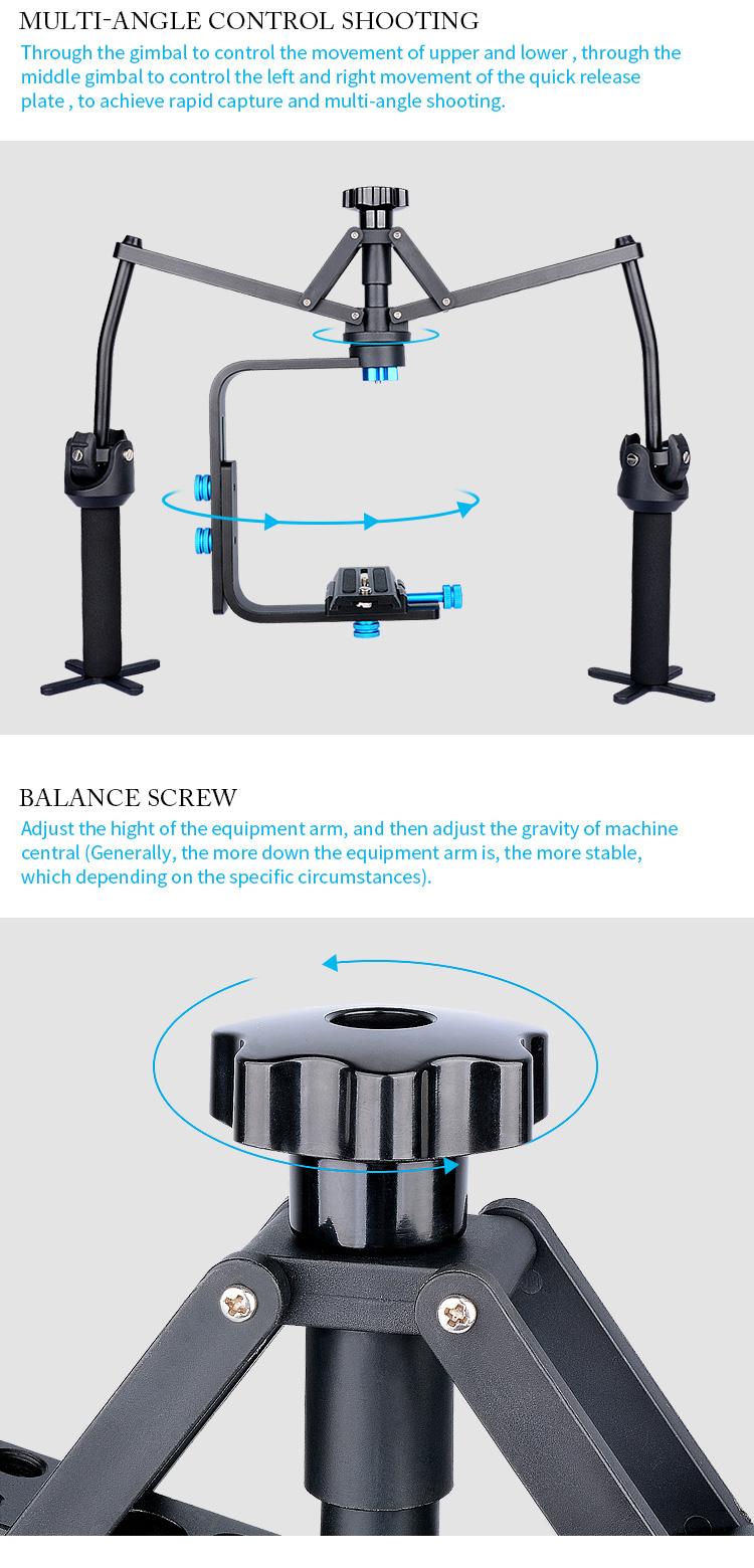 YELANGU S1 Photography and Film Handheld  Video Camera Gimbal Spider Stabilizer for Dslr Camera