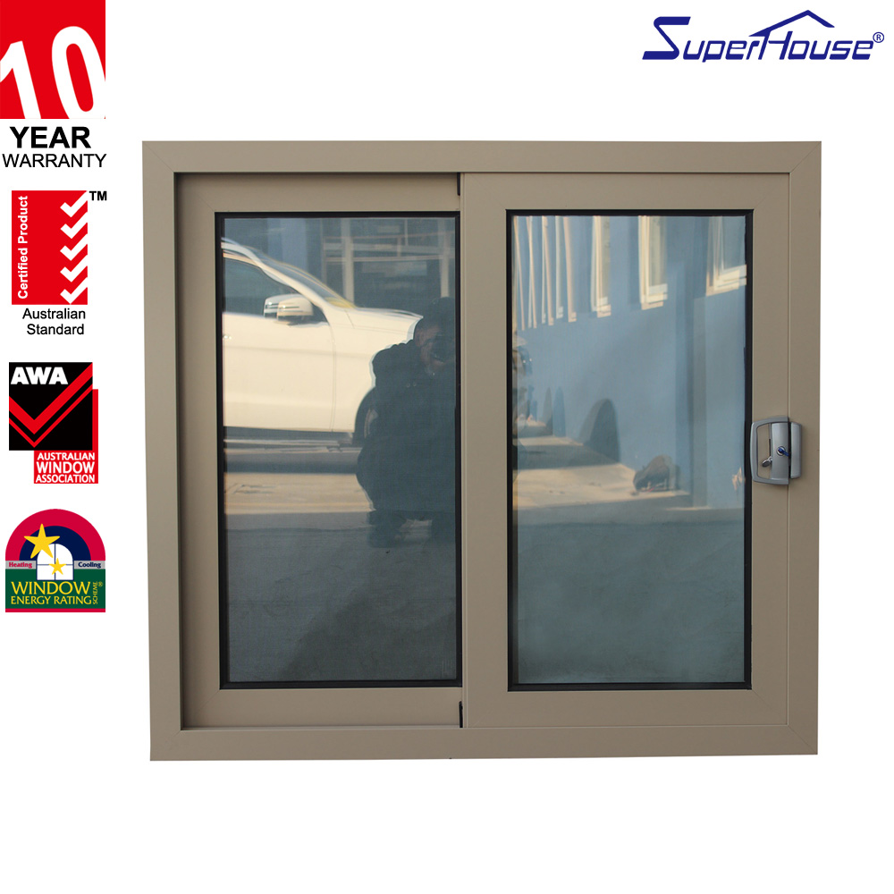 Australia/NZ/Canada standard aluminium vertical sliding window with anti-theft grill