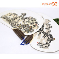 rould bamboo paper fan lanscape painting