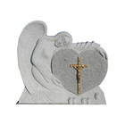 Cheap Best Selling High Quality Customized Angel Double Heart Headstone Monuments Marble Tomb Memory Stones