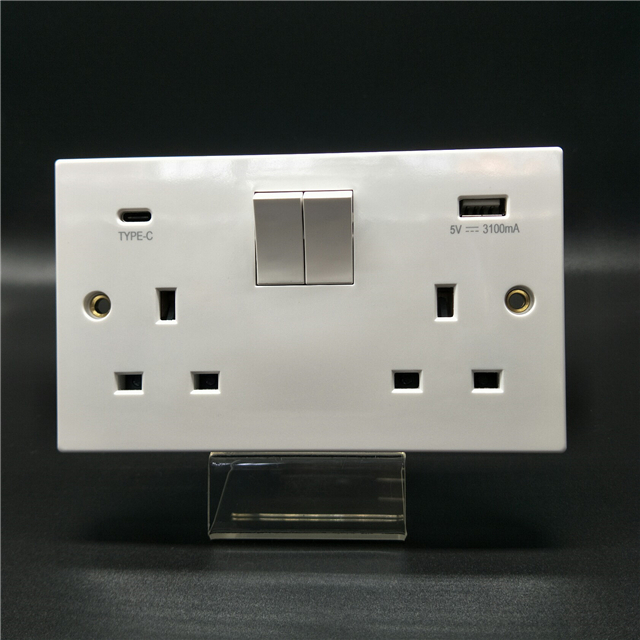 wp1207 13a uk <strong>standard</strong> <strong>bs</strong> type 220v 2gang 6pin usb wall <strong>socket</strong> outlet eu wall <strong>socket</strong> usb wall switch with usb <strong>socket</strong>