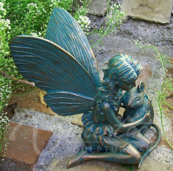 Vente Chaude En Métal Artisanat Vie Taille Bronze Belle Fée Jardin ...
