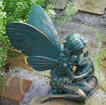 Hot Sale Metal Crafts Life Size Bronze Beautiful Fairy Garden Statues For  Outdoor Decoration