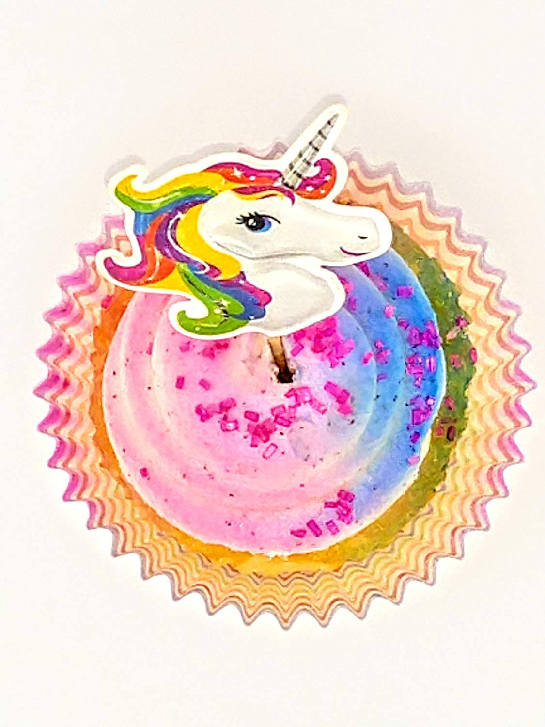Raw Earth Colors Unicorn Cupcake Toppers With Liners Double Sided Two Inch Rainbow Unicorn Cupcake