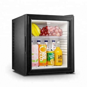 Wholesale Cheap 10-60 Litre Glass Door Hotel/Home Electronic A Mini Bar Refrigerator Without Compressor