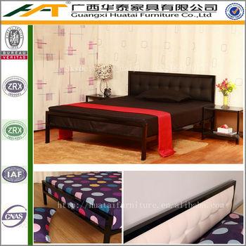 Muebles De Dormitorio De Cama Doble Diseños Con Cama De Hierro Marco ...