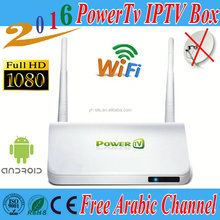 Hot Sale PowerTv X6 Arabic IPTV Box Free 480 HD Live TV IPTV Set Top Box French Arabic,Africa Channels free lifetime