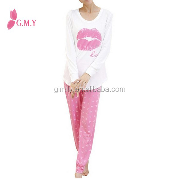 8d1c9fe8e1 Women s Long Sleeve Sweet Kisses Cotton Pajama Sets Sleepwear