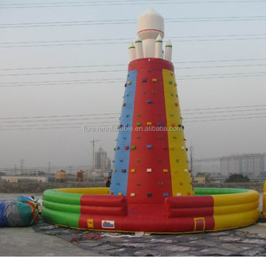 Factory outlet colorful inflatable water rock climbing wall