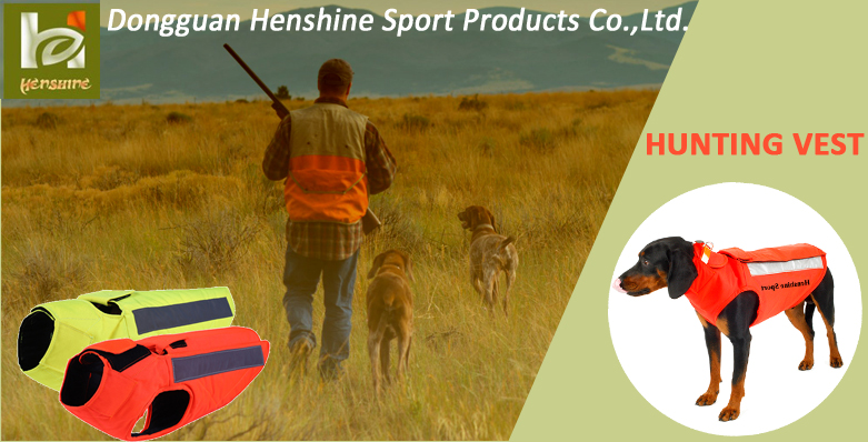 Safety Orange Protective Hunting Dog Equipment, Aramid Tear Resistant Hunting Dog Vest Jacket Coat with 3m Reflective tape