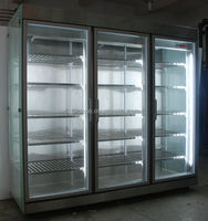 Flower glass display refrigerator with 5 adjustable shelves