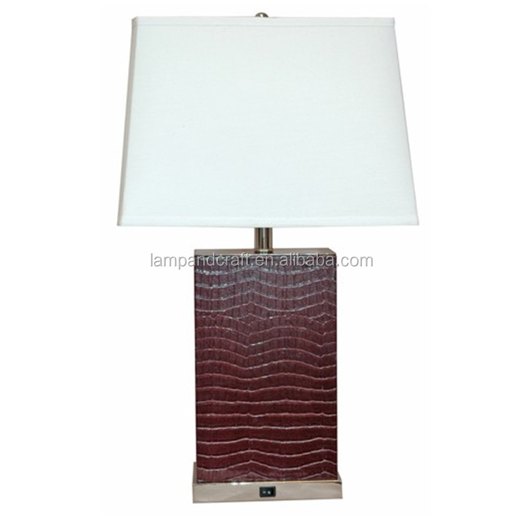 Super 8 Hotel Room Lamp Set With 2 Power Outlet And Switch In The