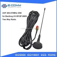Hi-Q Two Way Radio VHF UHF SMA Magnetic Mobile Antenna UT-108UV for BAOFENG CB Radio Walkie Talkie UV-5R UV-B5 UV-B6 GT-3