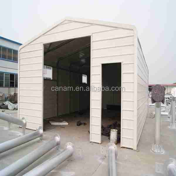 Hot sale Steel tube garage white color garage