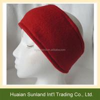 W-782 Promotional unisex sports hair band ear warmers ear muffs polar fleece winter headband