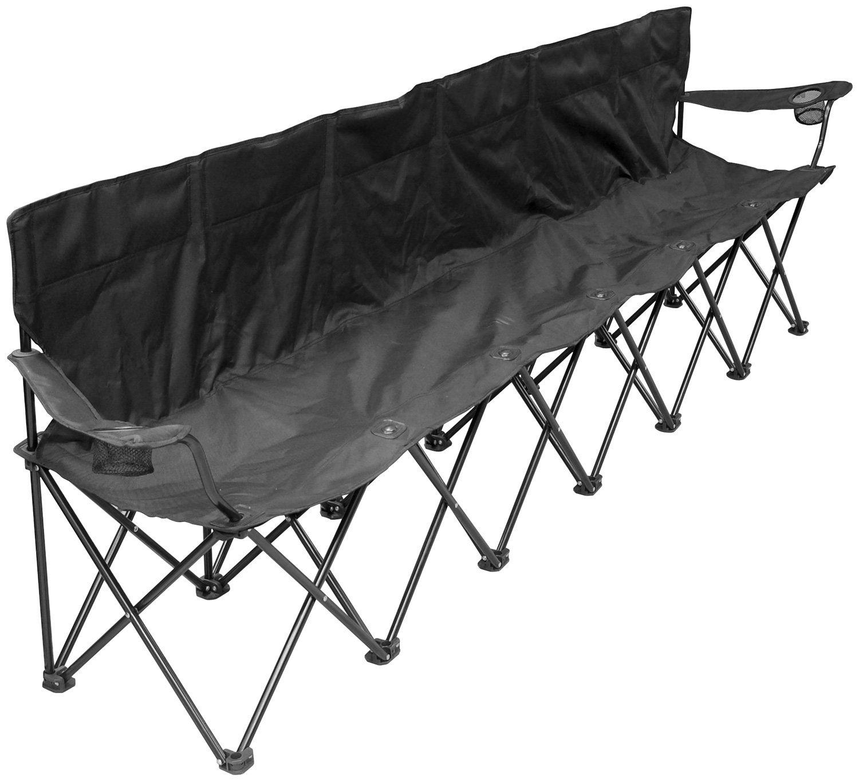 Creative Outdoor Distributors Folding Chair (6 Person), Black
