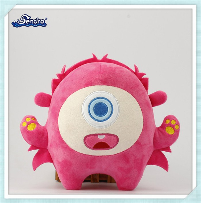 soft plush one eye mascot toy stuffed monster for the halloween