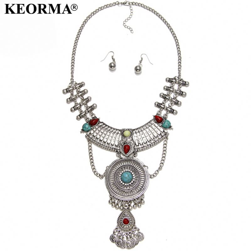 Best selling trendy style 2017 antique pendant alloy necklace