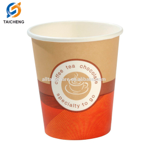 6oz-12oz Paper Material coffee cups,waxed paper cups