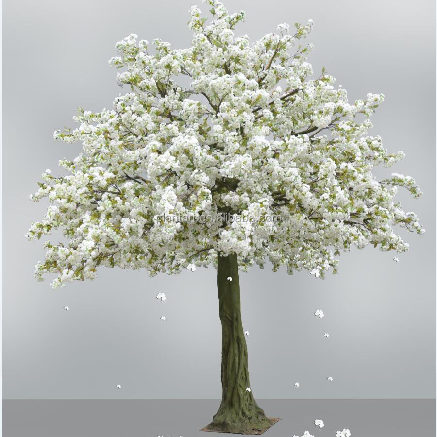 2016 Manufacturer white and pink artificial silk cherry blossom tree indoor and outdoor decoration