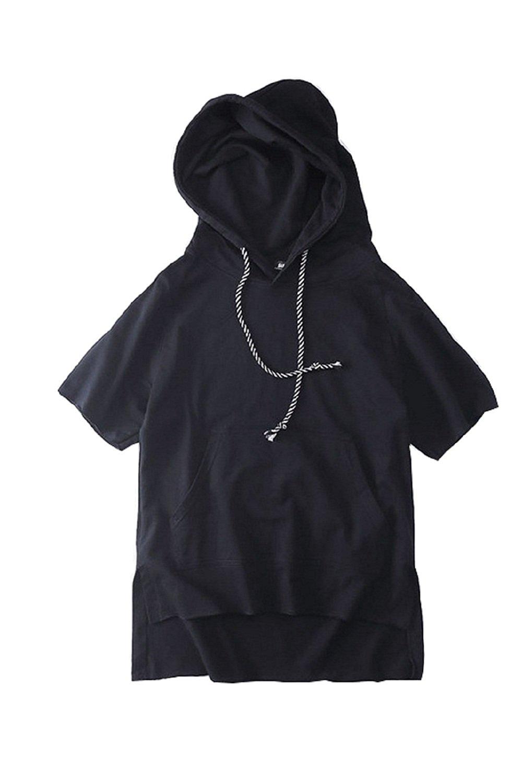 44523db764352 Pishon Men s Hooded Vest Plain Full Zipper Kangaroo Pocket Warm Sleeveless  Hoodie. Get Quotations · XR 2017 Fashion New Pocket Hoodie Plain Hooded  Hoodie ...