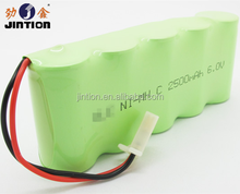 6V NIMH C 3000mah rechargeable battery pack with connector