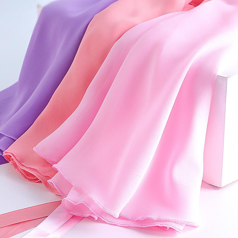 Children Adult Ballet Skirt Girls Women Chiffon Wrap Skirts Dance Practice Wear
