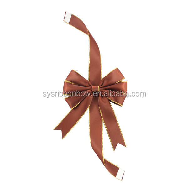 Elastic packing ribbon bow with ribbon loop/gift wrapping ribbon bows