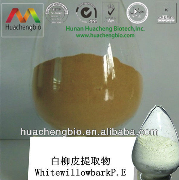 ISO&Kosher 15%~98% Salicin White Willow Bark Extract Powder