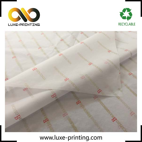 Beauty personal care products custom logo printed tissue wrapping paper