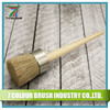 1.5 Inch White Pure Bristle Wooden Handle Round Paint Brush