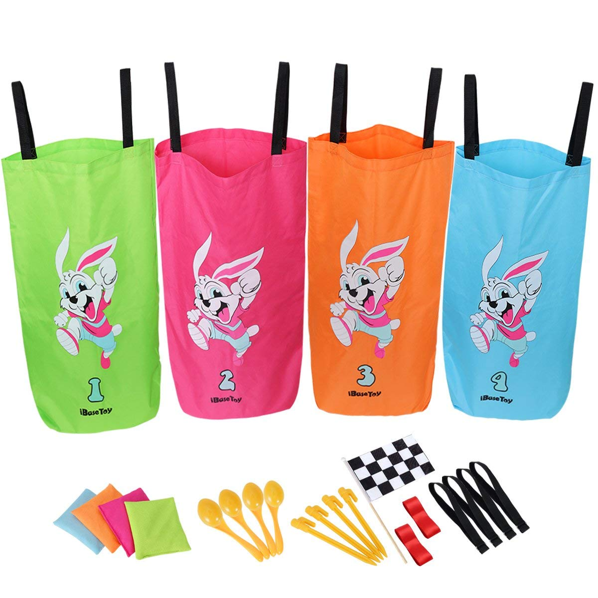 Elite Potato Sack Race Bags 3 Fun Outdoor For Kids The Legged Relay And Egg Spoon S Away In Its