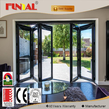 Single/double/triple Toughened Glass Exterior Folding Door - Buy ...