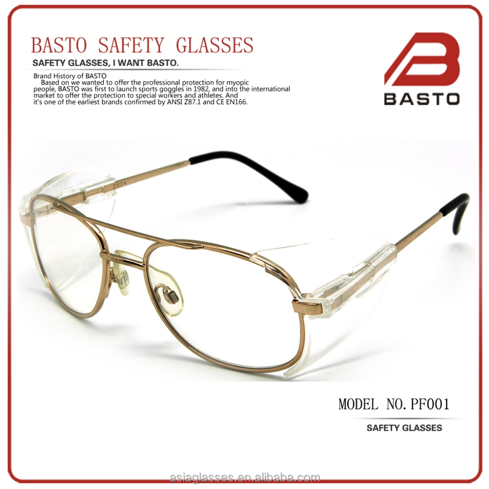 39debe049f safety glasses metal frame with side shields CE+EN166+ANSI z87 safety  glasses