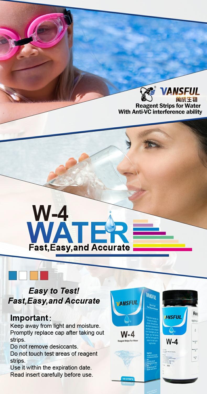 4 1 낮은 감지 식수 테스트 키트-수영장 스파 물 테스트 스트립